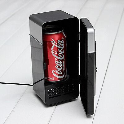 USB Black Mini Desk Fridge & Drink Warmer for Laptop PC Notebook NEW