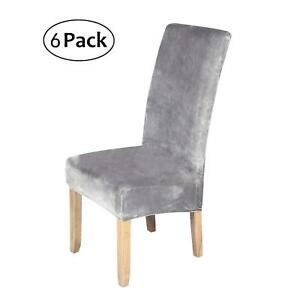Set Of 6 Stretch Slipcover Covers For Dining Room Chair ...