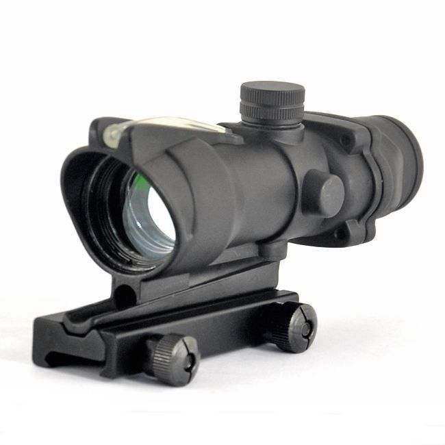 ACOG RC 1X32 Fiber Optic Green Dot Sight Scope With QD Mount For Hunting Rifle