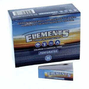 50 PKS ELEMENTS PERFORATED ROLLING PAPER FILTER TIPS FOR SIZE 1.25 KING 1.0