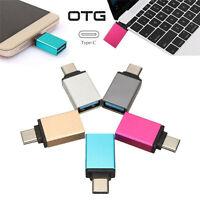 USB 3.0 Female to USB 3.1 Type C Male Converter USB-C OTG Adapter Aluminium