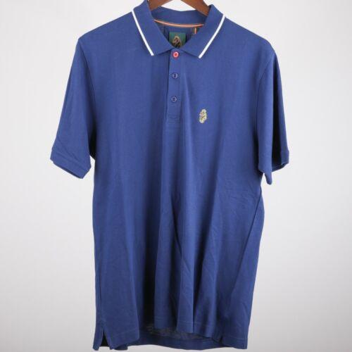 RRP £59.99 LSP2 Mens Luke Mead Short Sleeved Navy Polo Shirt