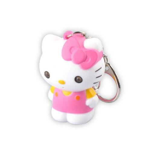 Hello Kitty Figurine Porte-clés Sonore et Lumineux Rose 5 cm