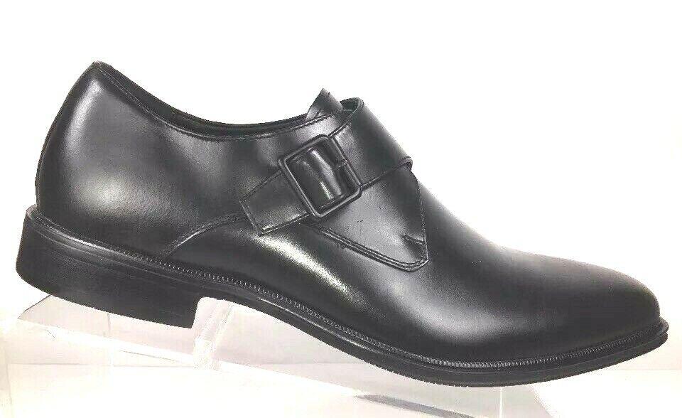Kenneth Cole Mens Loafers Size 11.5 M Monk Strap Slip On Black NWB