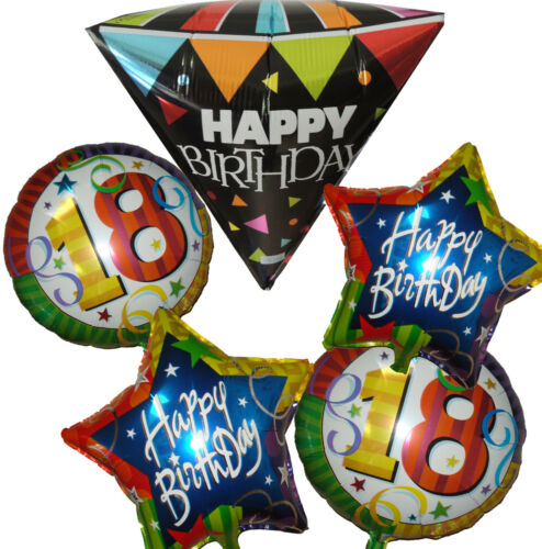 18TH BIRTHDAY BOY GIRL NUMBER 18 PARTY BALLOON DECORATION CENTERPIECE FAVOR GIFT