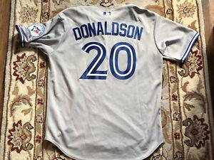 best website 7cf6d e0848 Details about Josh Donaldson Toronto Blue Jays Grey Road Jersey XL Circa  2016 40th Anniversary