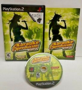 Karaoke Revolution Party- PS2 Playstation 2 COMPLETE Game 1 Owner Near Mint Disc