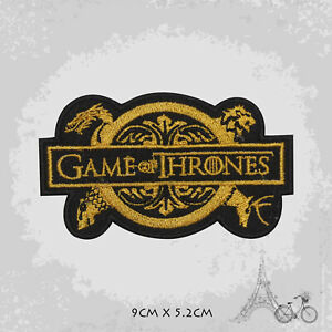 Game Of Thrones Logo Iron On Patch Sew On Embroidered Patch Badge