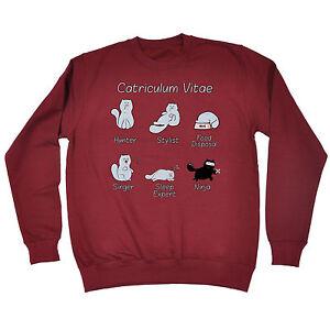 Catriculum VITAE Da Uomo T-shirt Tee Regalo di compleanno gatto micio gattino Carino Divertente