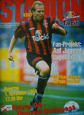 Programma UEFA CUP 1994/95 Bayer Leverkusen-Honved Budapest