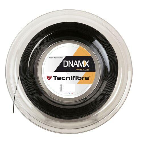 Tecnifibre dnamx 1.20 mm-Noir-squash String-Reel 200 m-GRATUIT UK p/&p