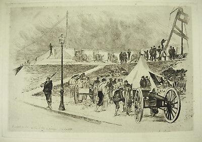 Auguste André LanÇon Guerre Franco-prussienne Rempart Du Lude Fort De Montrouge Dulzura Agradable