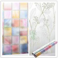 Lattice 45cm x 2m Frosted Toilet Glass Stickers Window Film Wintersweet Decor