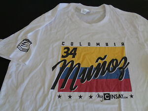 CARLOS MUNOZ Andretti INDY Car Racing #34 Adult Shirt Size XL New COLUMBIA