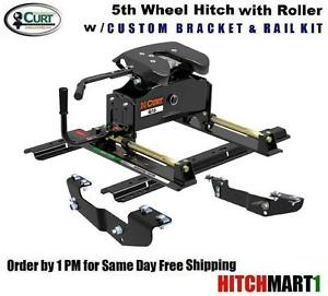 Curt Fifth Wheel Hitch >> Details About 16k Curt A16 5th Fifth Wheel Trailer Hitch Package W Roller 16418 16204 16521