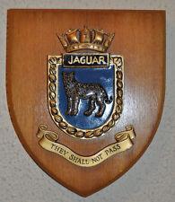 HMS Jaguar wall plaque shield crest Royal Navy RN Leopard-class frigate Cod War