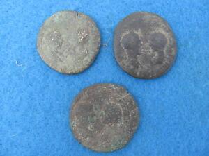 3 Roman Lot Dual Facing Busts Rare/scarce 31 Grams