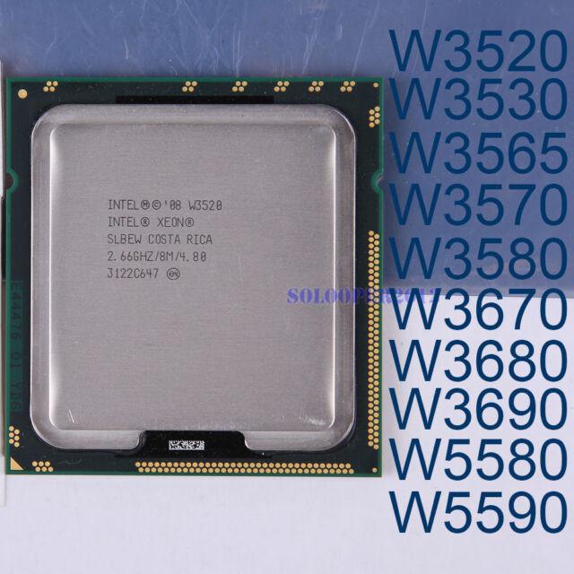 Intel Xeon W3530 W3565 W3580 W3670 W3680 W3690 W5580 W5590 LGA 1366 Processor