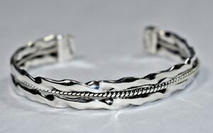 Heavy Taxco Mens Womens Mexican Bracelet Cuff Vintage Roped Design