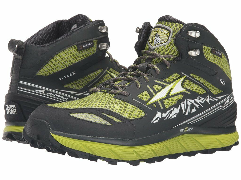Mens New Altra Lone Peak 3.0  Mid Trail Running shoes Size 9.5 Lime  counter genuine