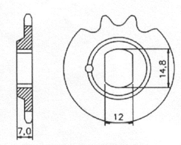 Kreidler Flory MF12 MF 12 MF13 MF 13 MP 2 4 Florett Ritzel 12 Zähne 3/16 415