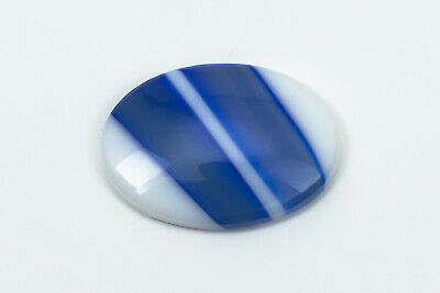 Vintage 18mm x 25mm Silver Flecked Blue//Purple Marble Oval Cabochon #XS89-D