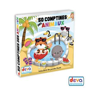 50-Comptines-des-animaux-Album-2CD-Livret-illustre