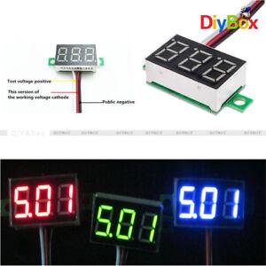 3-Wires-0-36-inch-DC-0-30V-LED-Panel-Voltage-Meter-3-Digital-Display-Voltmeter