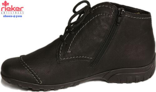 Rieker zapatos botín negro caliente forraje cambio plantilla extra lejos nuevo
