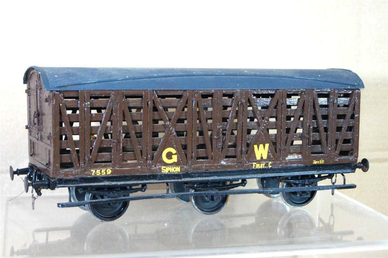 G G1 GAUGE 1 KIT BUILT GW GWR SIPHON C 6 WHEEL FRUIT WAGON 7559 NICE ei