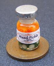 1:12 scale glass jar of pickled garlic dolls house kitchen tumdee miniature