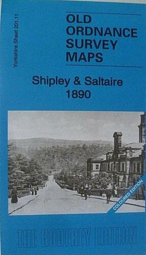 Old Ordnance Survey Map Shipley /& Saltaire 1890 Yorks Coloured Ed  S201.11 New