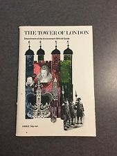 1977 The Tower Of London Department of the Environment Official Guide W/ Map