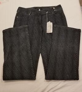vita Cut Boot Jeans Denim Nwt Stitch Shadow bassa Detail Escada 42 a Stretch 16 AFBw1