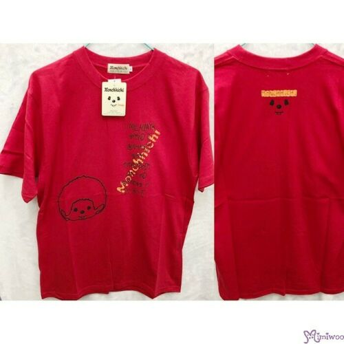 Monchhichi 100/% Cotton Fashion Adult Tee Laughing Boy Red L Size ~~ SALES ~~