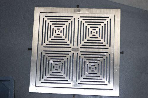 "Zurn Z154 12/"" Square Top Promenade Prom-Deck Drain Polished Nickel Bronze 3/"" Neo"