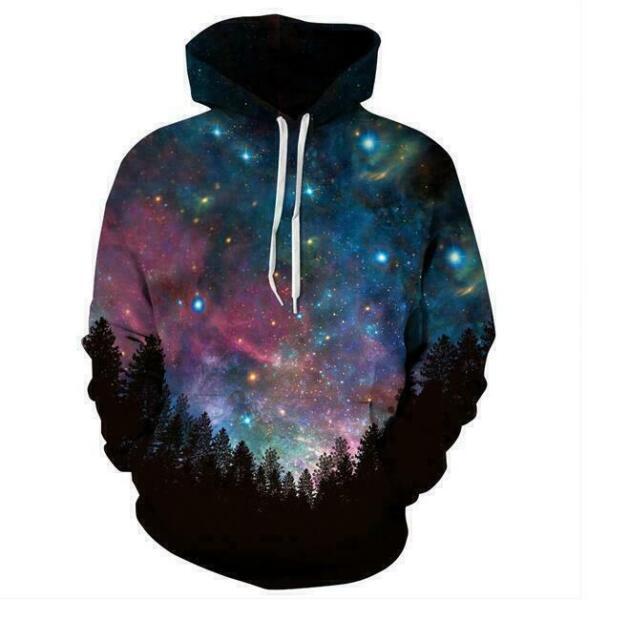 Unisex Hoodie Jacket Coat 3D Graphic Full Print Pocket Jumper Hooded Sweatshirt