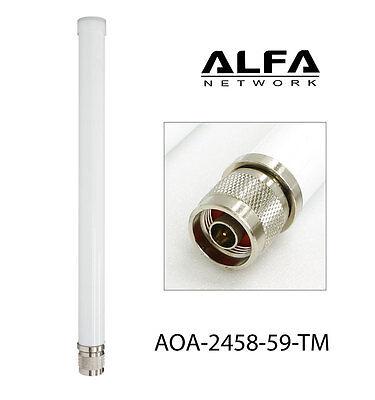 SuperLinxs 2.4//5GHz 5//9dBi Dual Band OMNI Outdoor Antenna WIFI 802.11ac//n Marine