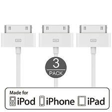 Genuine Original Quality iPhone 4,4S Charging & Data Cable 3 Pack US Seller