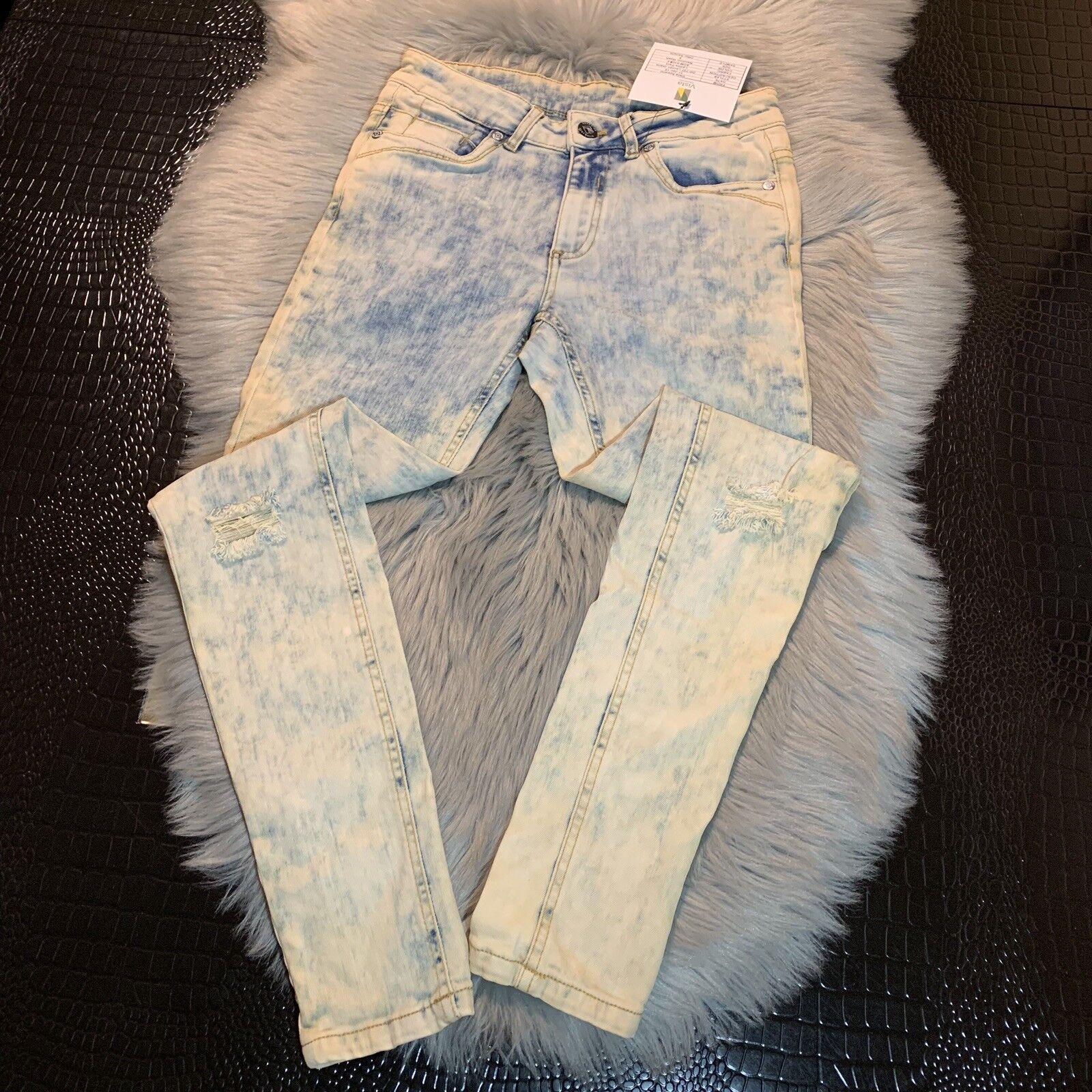 New Roadsign Australia Acid Wash Destoryed Jeans Size 9 Lauren Jeans Sample