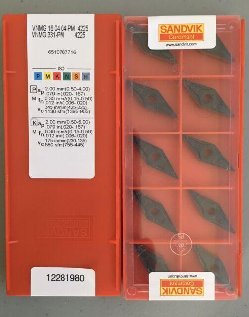 10 pcs Free Shipping Sandvik VBMT160404-PM 4325 VBMT331-PM CNC Carbide Inserts