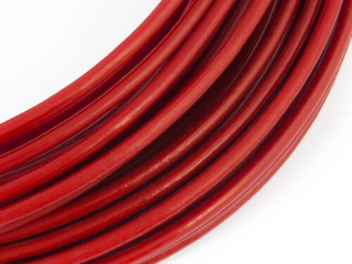 ROSSO PVC rivestito FUNE acciaio zincato galvanizzato filo metallo corda