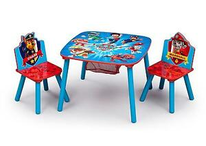 Paw Patrol Table Chair Set Kids Toddler Activity Eat Wooden Play ...
