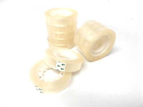 """1/"""" core 10 Rolls Clear Transparent Packing Tape 1//2/"""" x 1260/"""" per roll"""