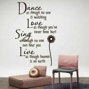 Dance-Love-Sing-Live-Flower-bedroom-Quote-Wall-Stickers-Removable-Home-Decals