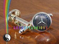 Mercedes Benz Mens Car Silver Shirt Antique Vintage Cuff Links Cufflinks Gift