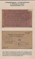 K1100) Kriegsgefangenenpost Kte ab PWIB France 12/44   OWL Herford