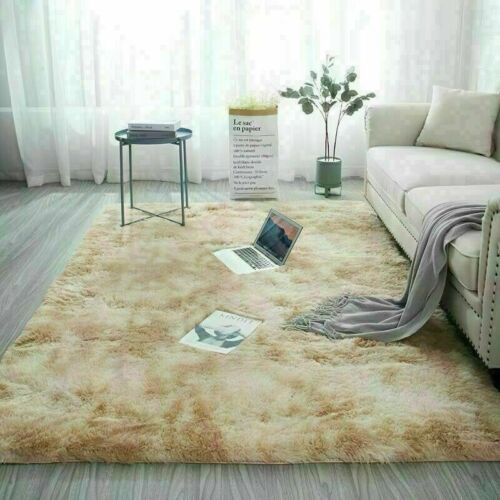 Fluffy-Large Rugs Anti-Slip SHAGGY RUG Super Soft Mat Living Room Floor Bedroom