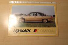 02278) Opel Omega A Lexmaul Prospekt 198?