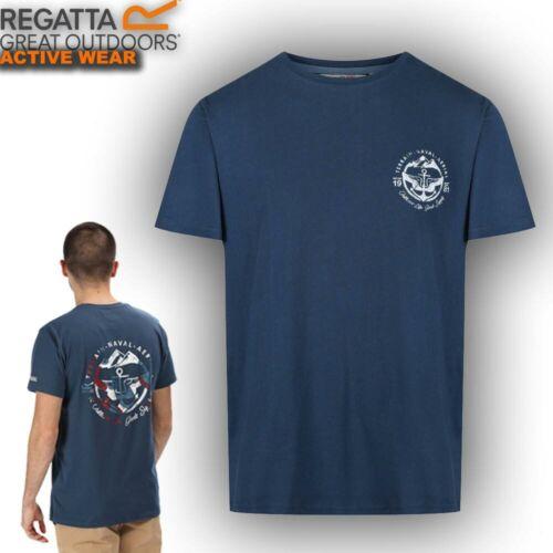 Regatta Mens T Shirt Tee Cotton Hiking Walking Outdoor Summer Work Gym Top Cline